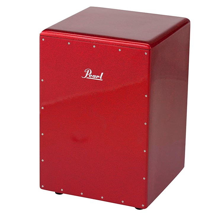 Pearl Boom Box Cajon Red Sparkle