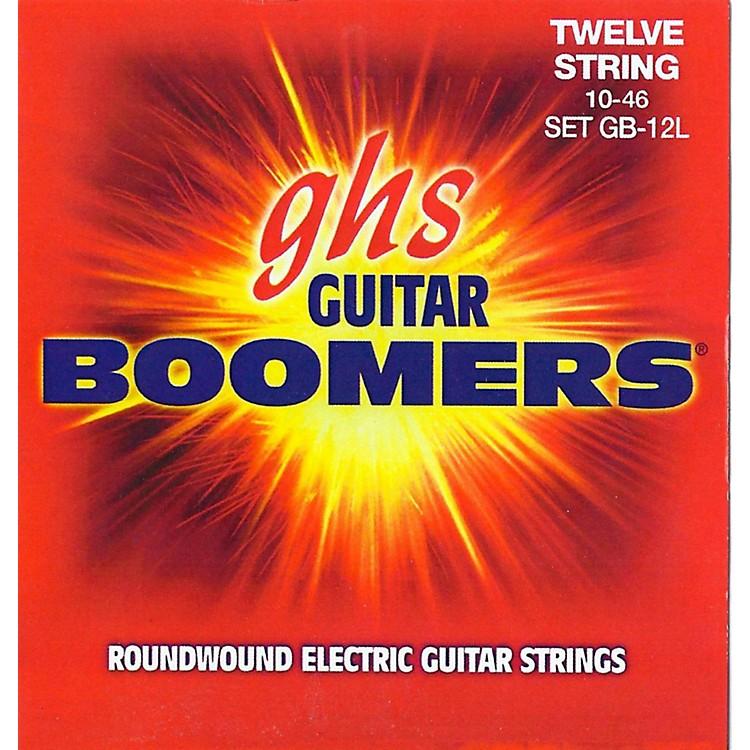 GHSBoomer 12 String Light Electric Guitar Set (10-46)