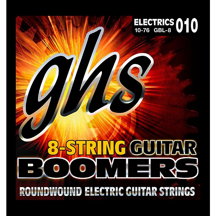 GHS Boomer 8 String Light Electric Guitar Set (10-76)