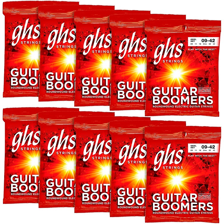 GHSBoomers Extra Light Electric Guitar Strings (10-Pack)