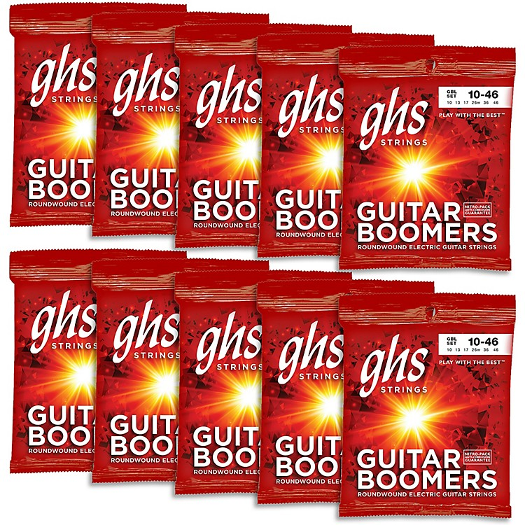 GHSBoomers Light Roundwound Electric Guitar Strings (10-Pack)
