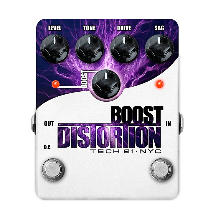 Tech 21 Boost Distortion Analog Distortion Guitar Effects Pedal