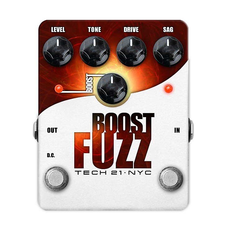 Tech 21Boost Fuzz Analog Fuzz Guitar Effects Pedal