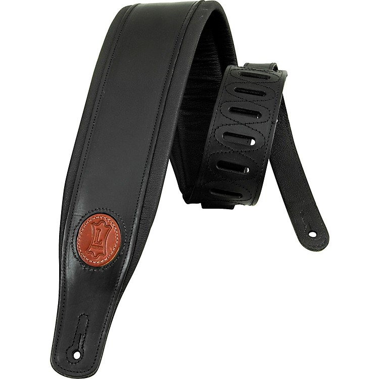 Levy's Boot Leather Guitar Strap Black