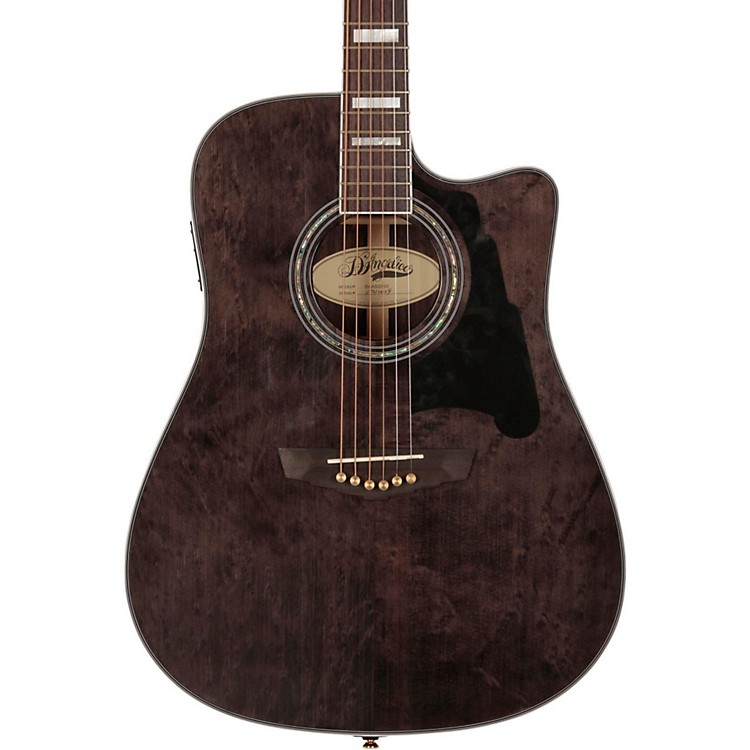 D'AngelicoBowery Dreadnought Cutaway Acoustic-Electric GuitarGray-Black