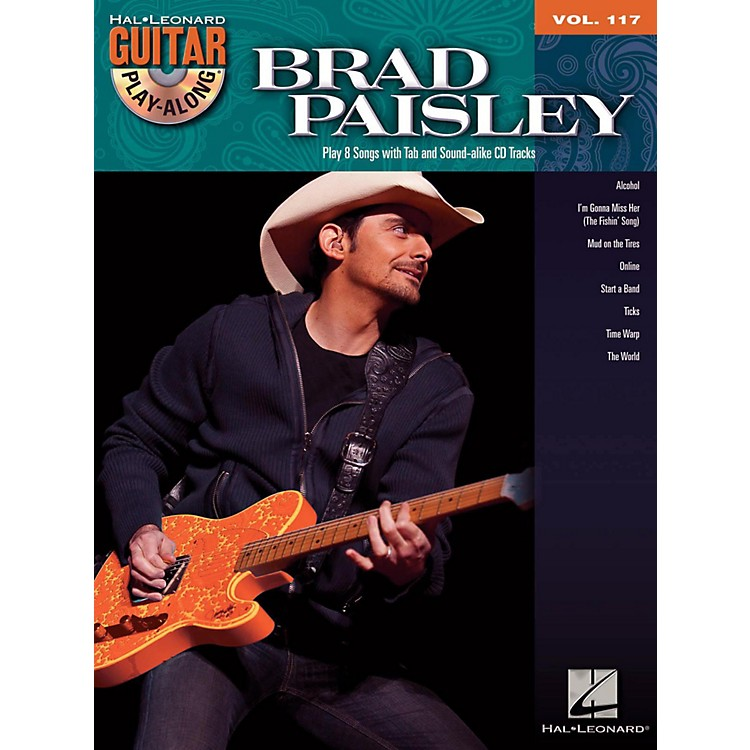 Hal LeonardBrad Paisley - Guitar Play-Along Volume 117 Book/CD