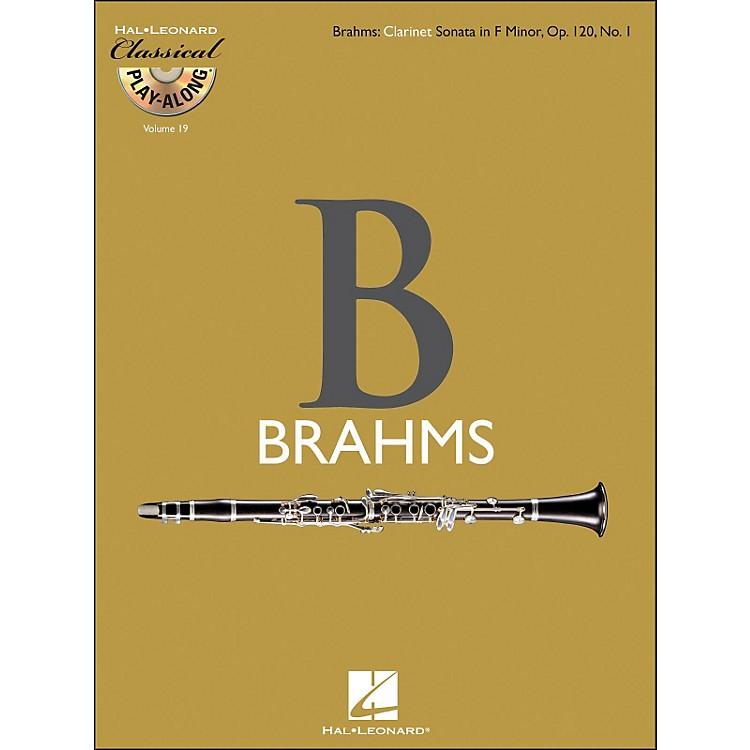 Hal LeonardBrahms: Clarinet Sonata In F Minor, Op.120, No.1 - Classical Play-Along (Book/CD) Vol.19