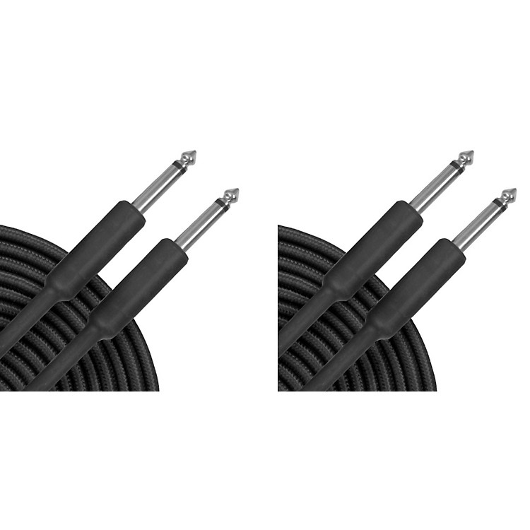 Musician's GearBraided Instrument Cable Black 20 ft. - 2 Pack