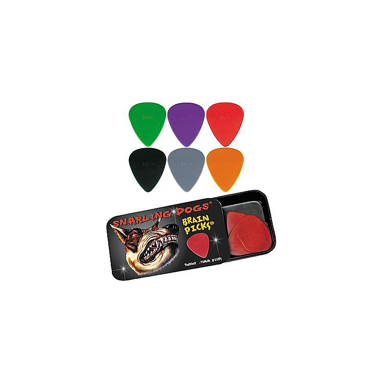 Snarling Dogs Brain Guitar Picks and Tin Box 1 Dozen 1.00 mm
