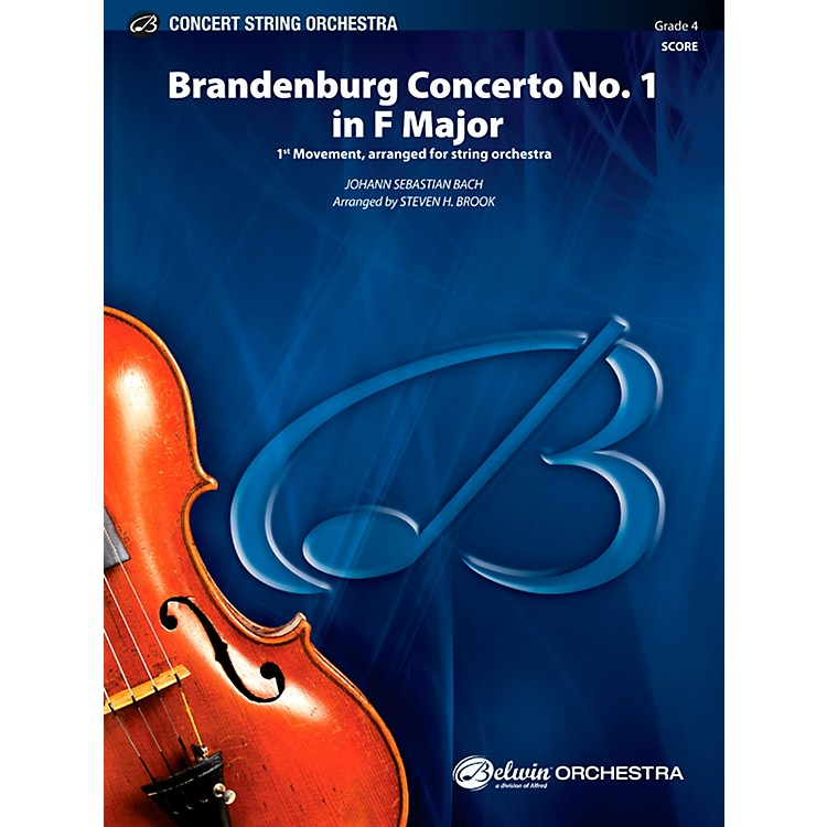 AlfredBrandenburg Concerto No. 1 in F Major Concert String Orchestra Grade 4 Set