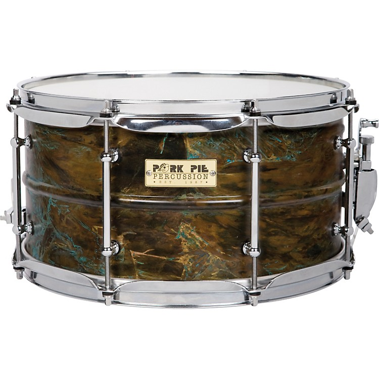Pork Pie Brass Patina Snare Drum 7X13