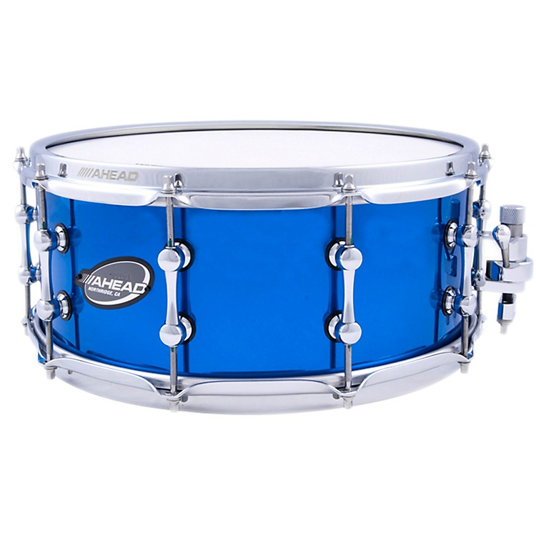 Ahead Brass Snare Chrome Blue 14 x 6 in.