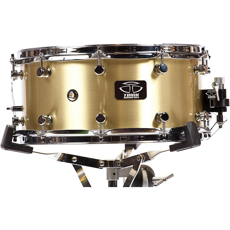 Trick Drums Brass Snare Drum 14x6.5