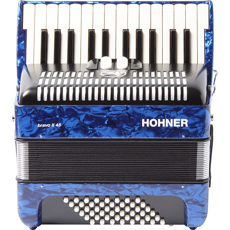 Hohner Bravo 48 Accordion Blue