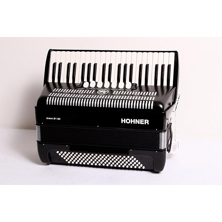 Hohner Bravo III 120 Accordion Black 889406467712