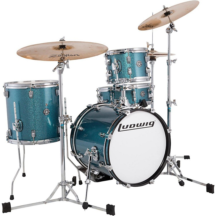 Ludwig Breakbeats by Questlove 4-Piece Shell Pack Azure Sparkle