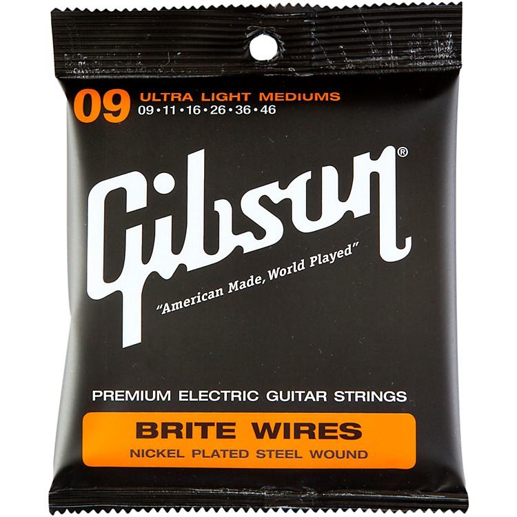 GibsonBrite Wires Ultra Light Custom Guitar Strings 3 Pack