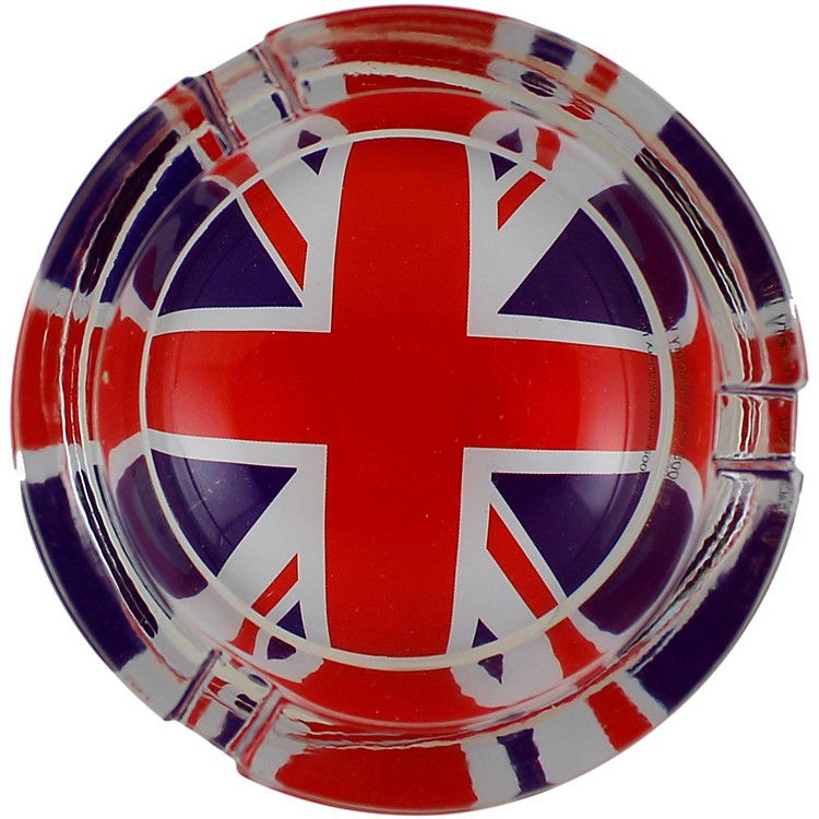 C&D VisionaryBritish Flag Glass Ashtray