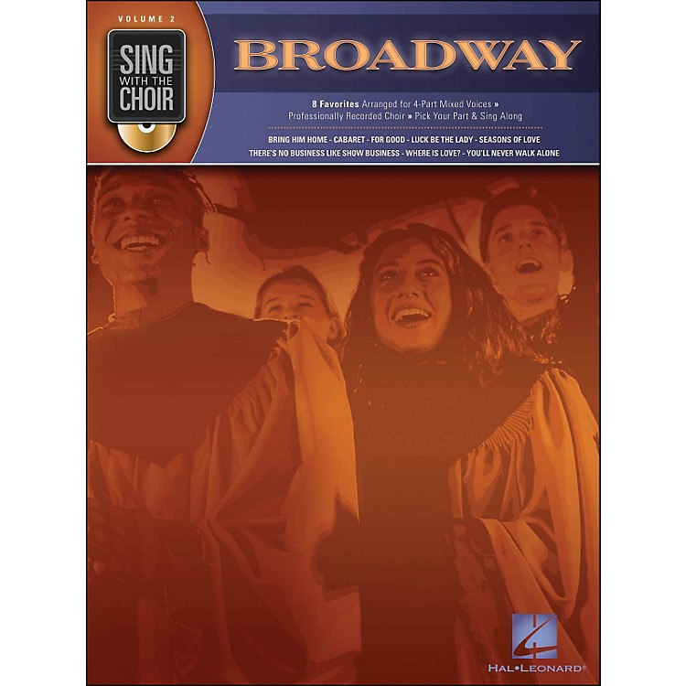 Hal Leonard Broadway - Sing with The Choir Series Volume 2 Book/CD