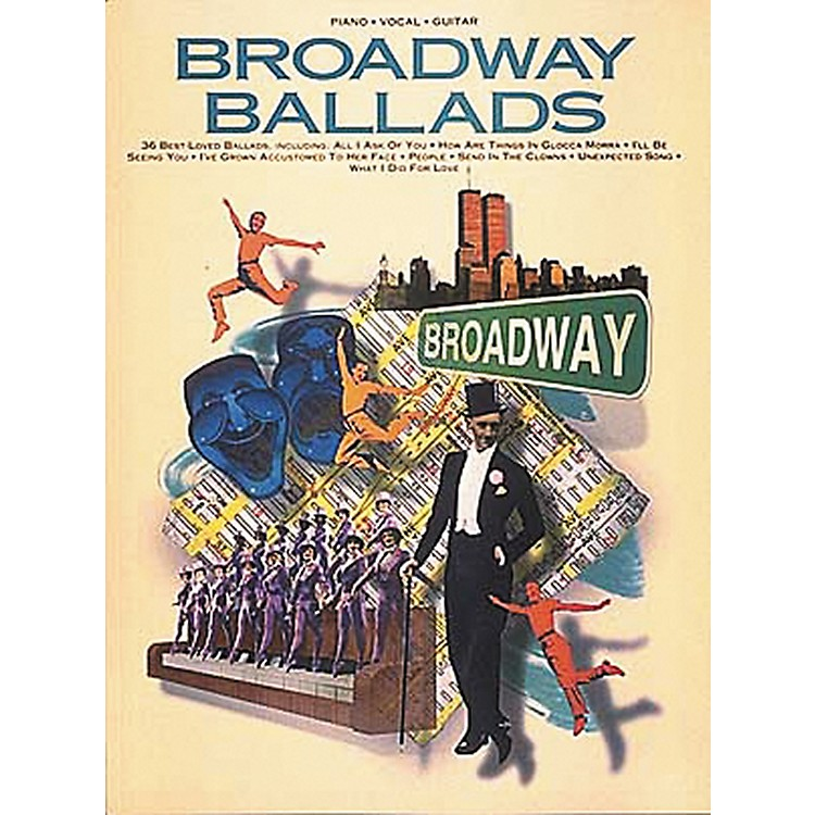 Hal Leonard Broadway Ballads Piano, Vocal, Guitar Songbook