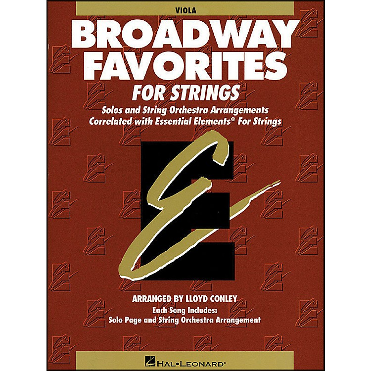 Hal Leonard Broadway Favorites for Strings Viola Essential Elements