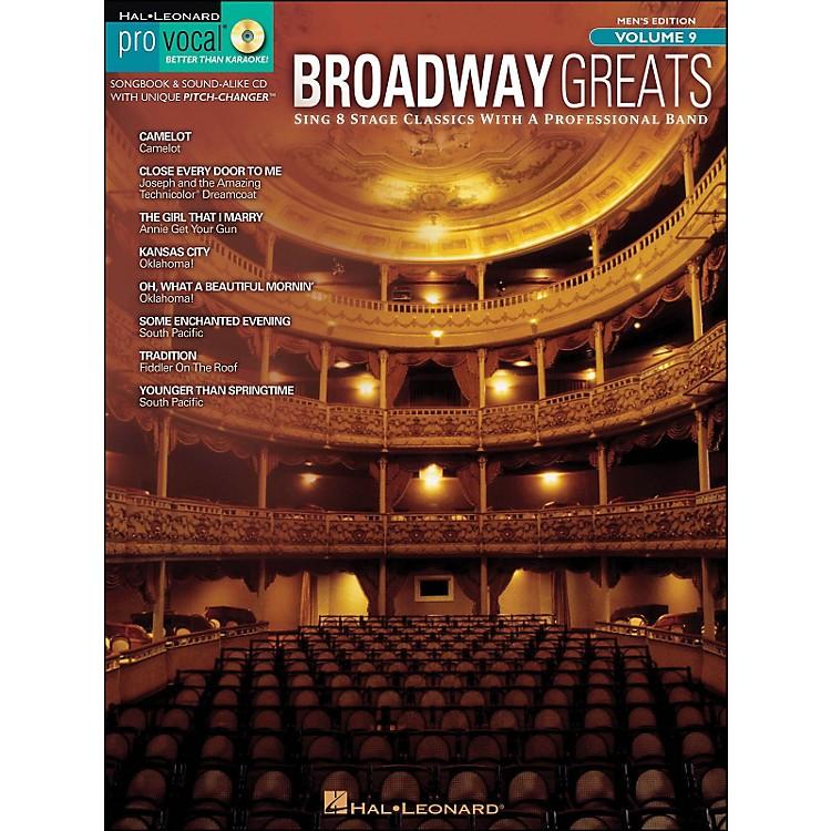 Hal LeonardBroadway Greats - Pro Vocal Songbook & CD for Male Singers Volume 9