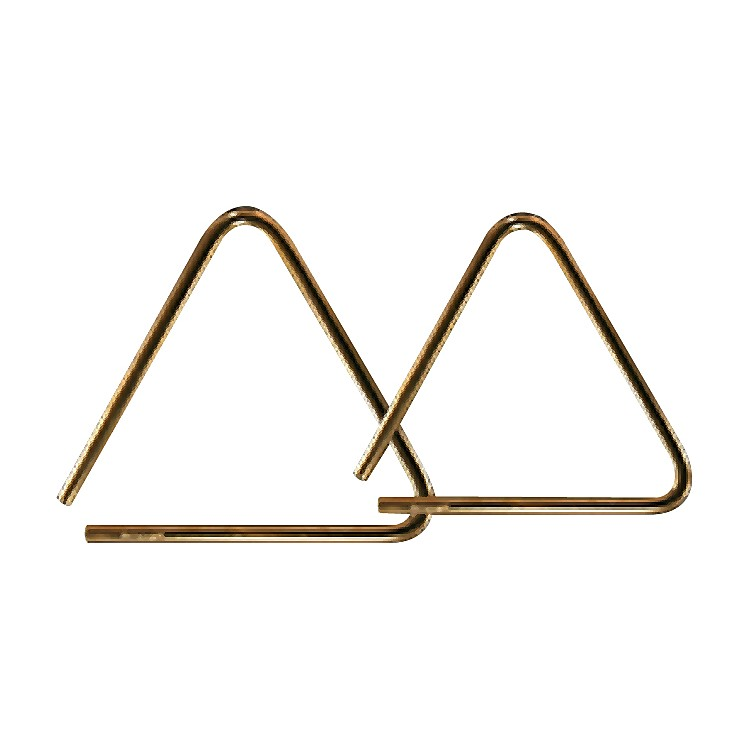 Grover Pro Bronze Pro-Hammered Triangle 6 in.