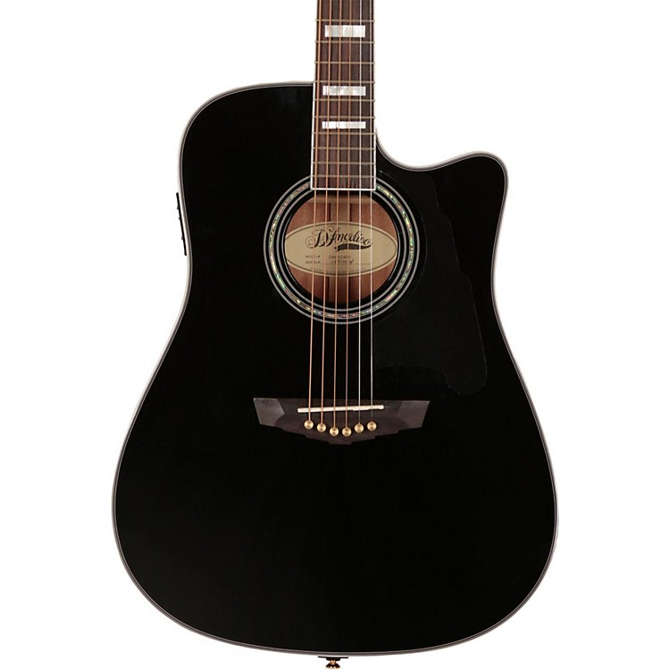 D'AngelicoBrooklyn Dreadnought Cutaway Acoustic-Electric GuitarBlack