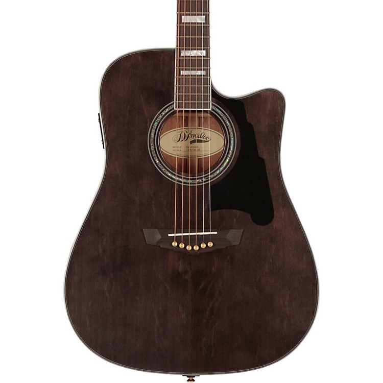 D'AngelicoBrooklyn Dreadnought Cutaway Acoustic-Electric GuitarGray-Black