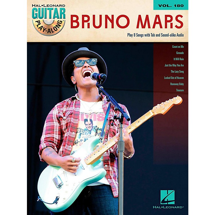 Hal Leonard Bruno Mars - Guitar Play-Along Volume 180 Book/Audio Online