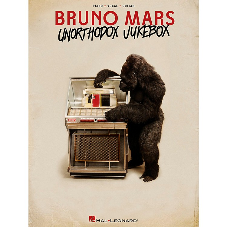 Hal Leonard Bruno Mars - Unorthodox Jukebox for Piano/Vocal/Guitar (PVG)