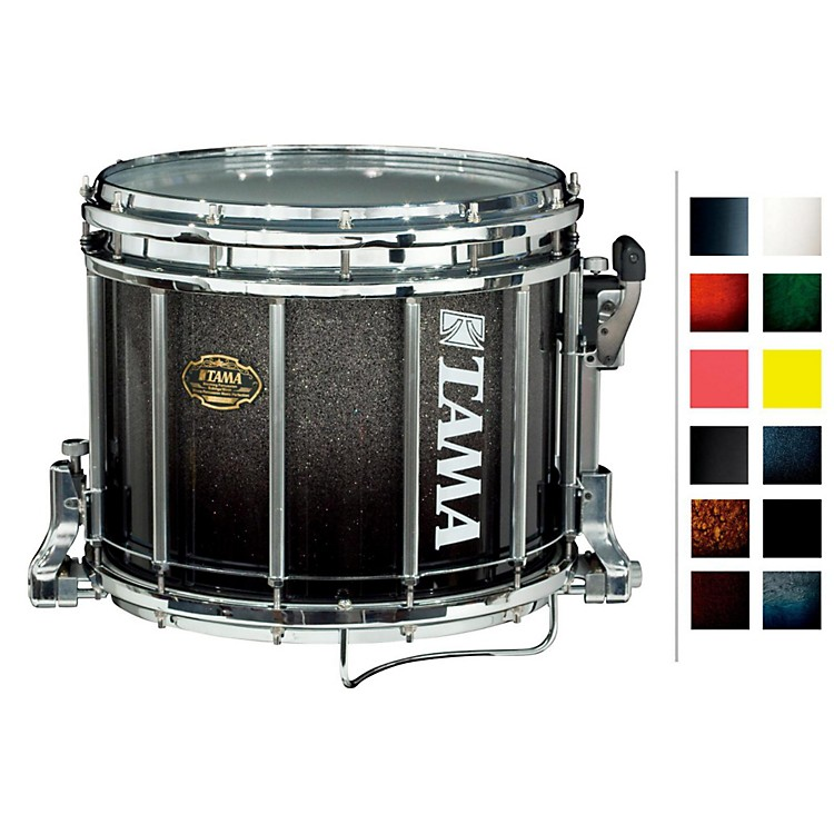Tama Marching Bubinga/ Birch Snare Drum Red Sparkle Fade 12x14