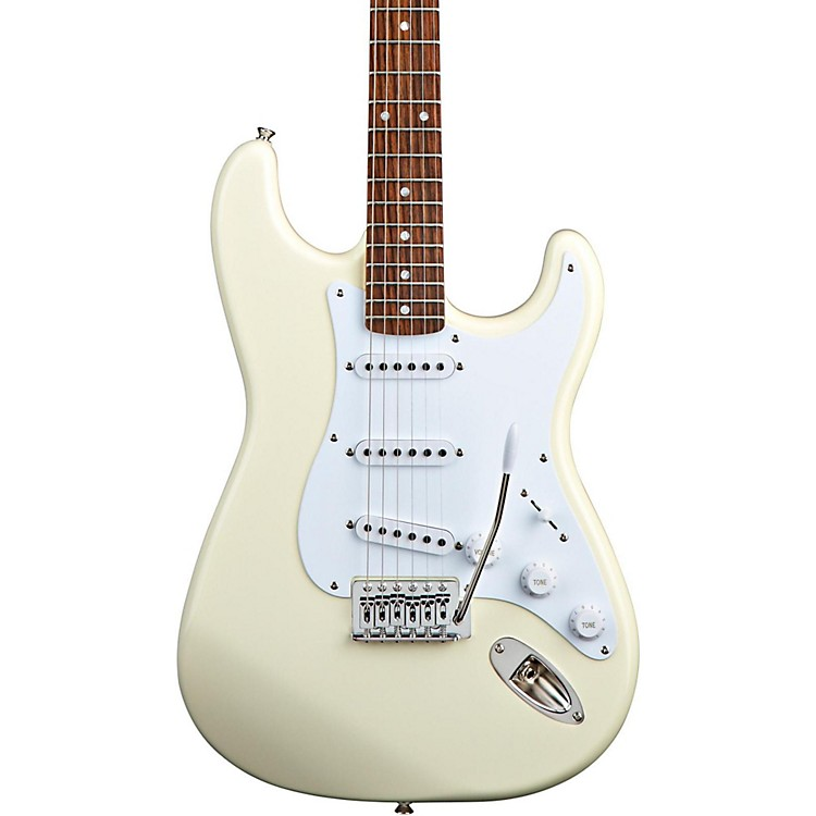 SquierBullet Strat with TremoloArctic White