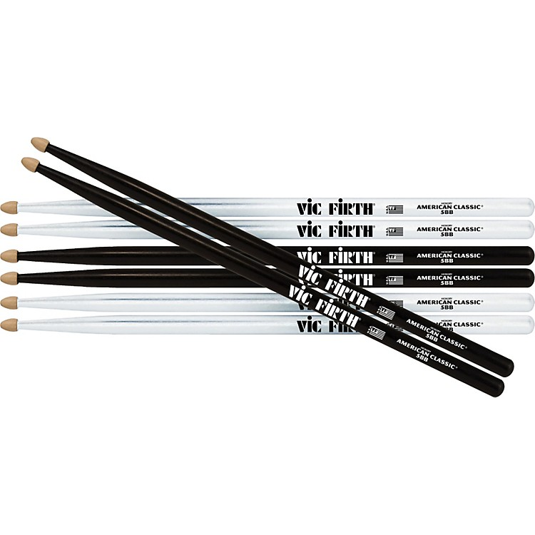 Vic Firth Buy 2-Pair White, 1-Pair Black & Get Black Pair FREE