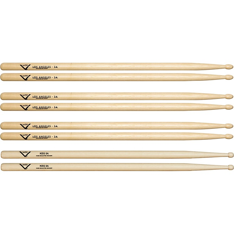 Vater Buy 3 - 5A Wood Drum Sticks, Get 1 Free KEG 5A