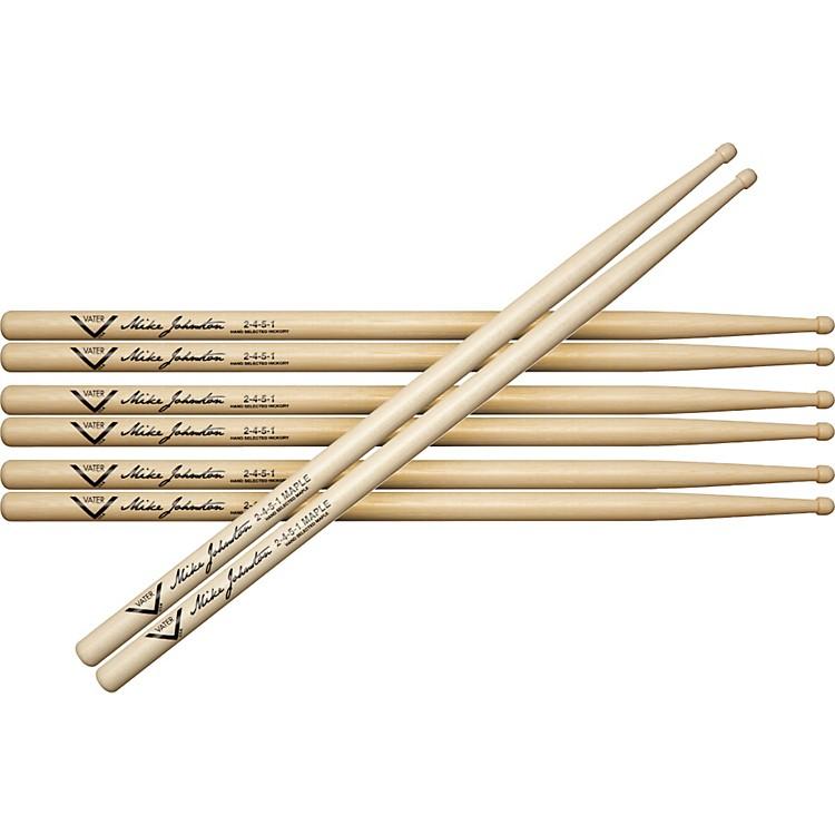VaterBuy 3 Pair Mike Johnston 2451 Hickory Sticks Get 1 Maple Pair Free