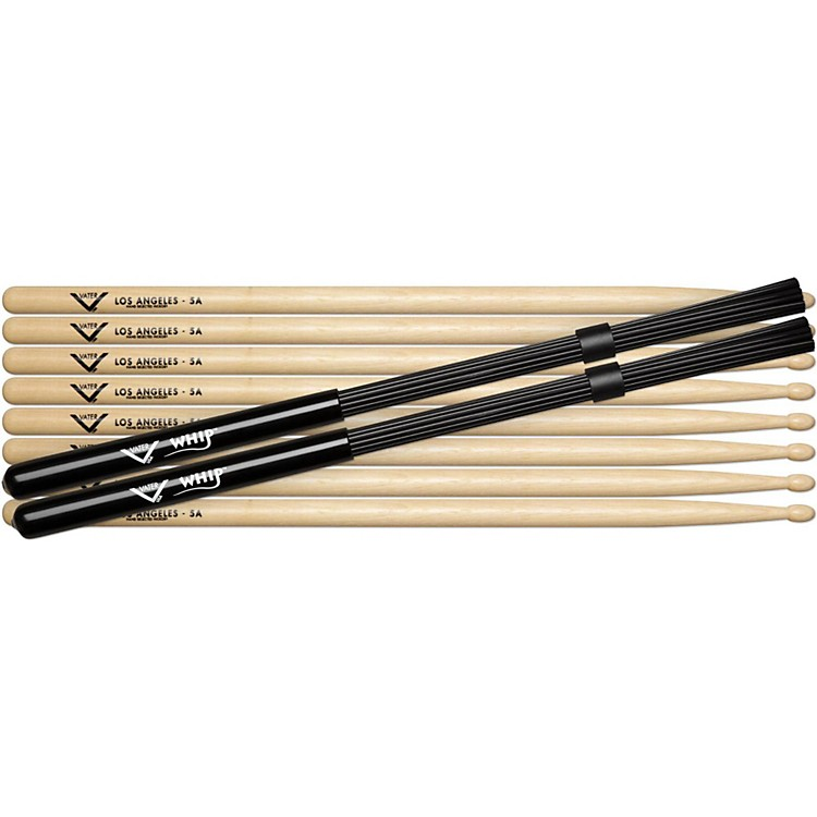 VaterBuy 4 Pairs 5A Wood Get Free Pair Whips