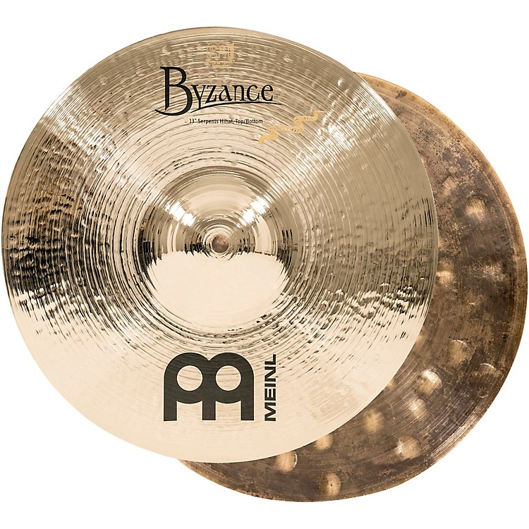 Meinl Byzance Brilliant Serpents Hi-Hat Cymbal Pair 13 Inch