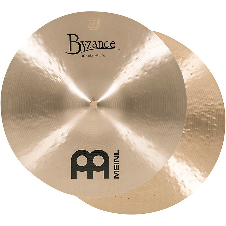 Meinl Byzance Medium Hi-Hat Brilliant Cymbals 13 in.