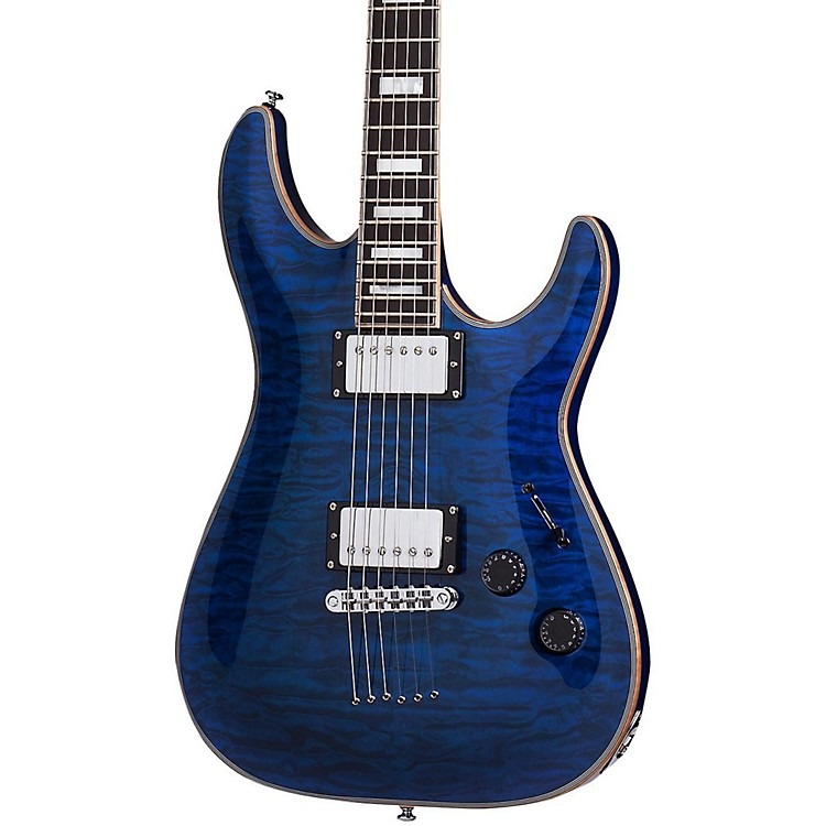Schecter Guitar ResearchC-1 Custom Electric GuitarTransparent Midnight Blue