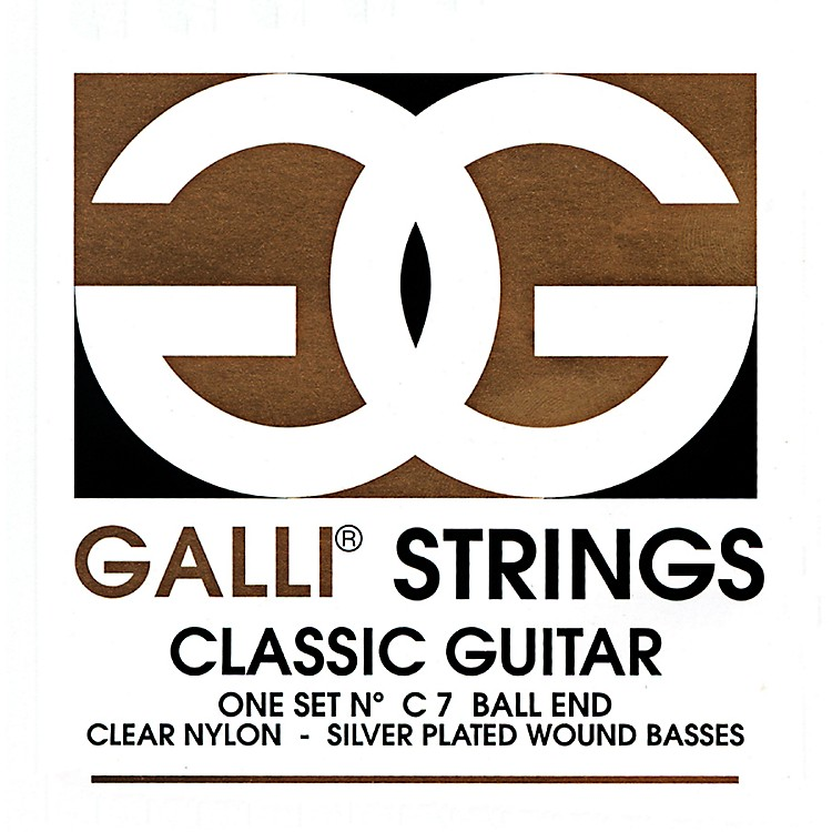Galli Strings C007 Ball End Nylon Normal Tension Classical Acoustic Guitar Strings