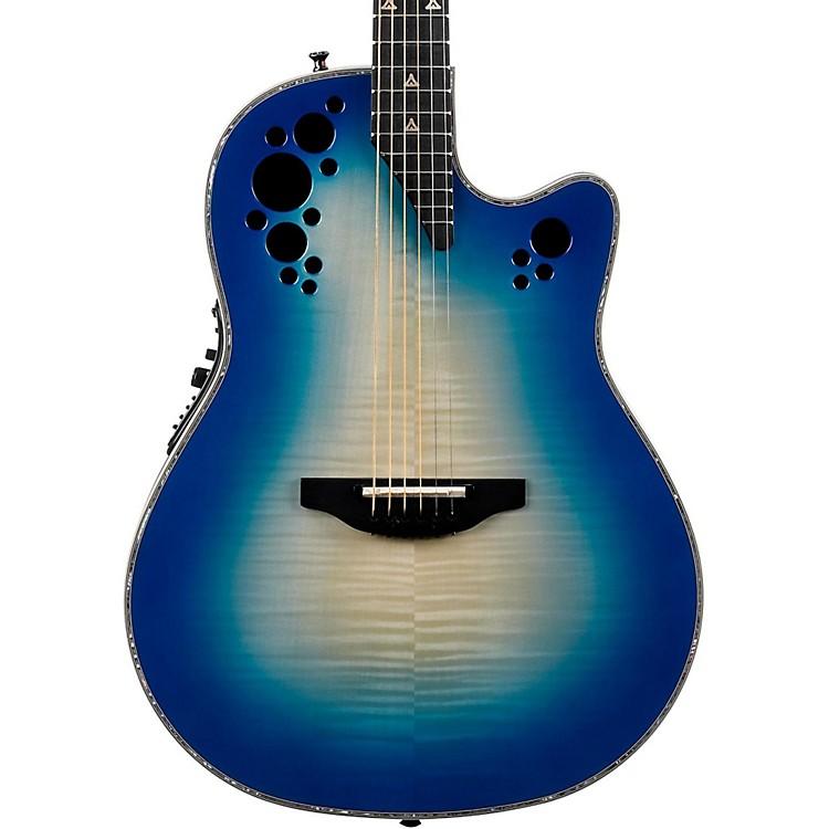 OvationC2078AXP Elite Plus Contour Acoustic-Electric GuitarTransparent Blue