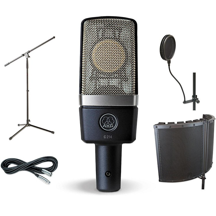 AKGC214 VS1 Stand Pop Filter and Cable Kit