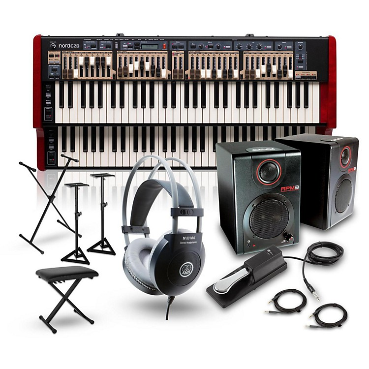 NordC2D Combo Organ with RPM3 Monitors, Headphones, Bench, Stand, and Sustain Pedal