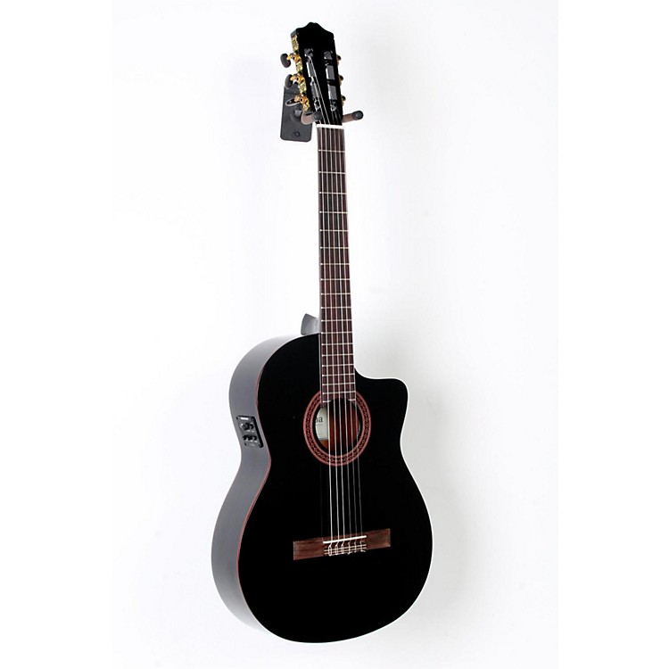 Cordoba C5-CEBK Classical Acoustic-Electric Guitar Black Black 888365790596