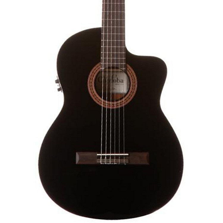 Cordoba C5-CET Classical Thinline Acoustic-Electric Guitar Black