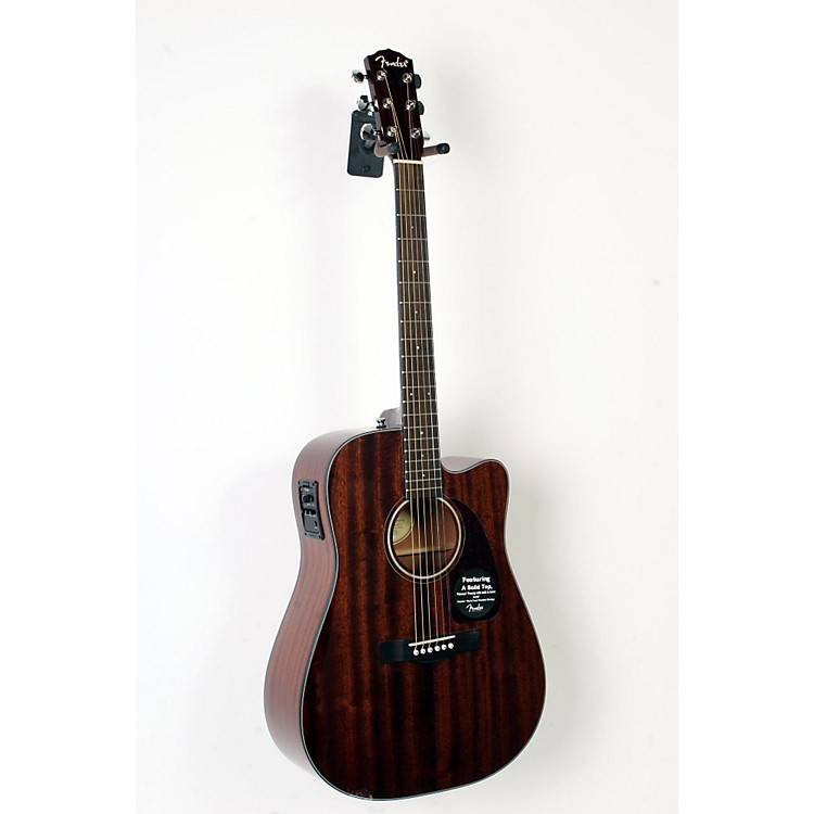 Fender CD-140SCE All Mahogany Acoustic-Electric Guitar Natural 888365899664