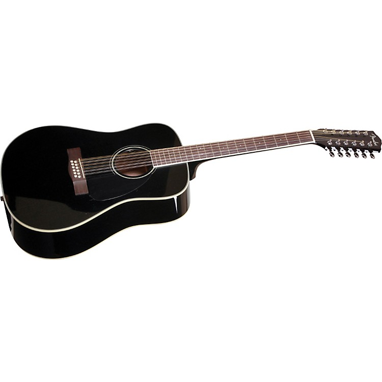 Fender CD-160SE 12-String Acoustic-Electric Guitar Black