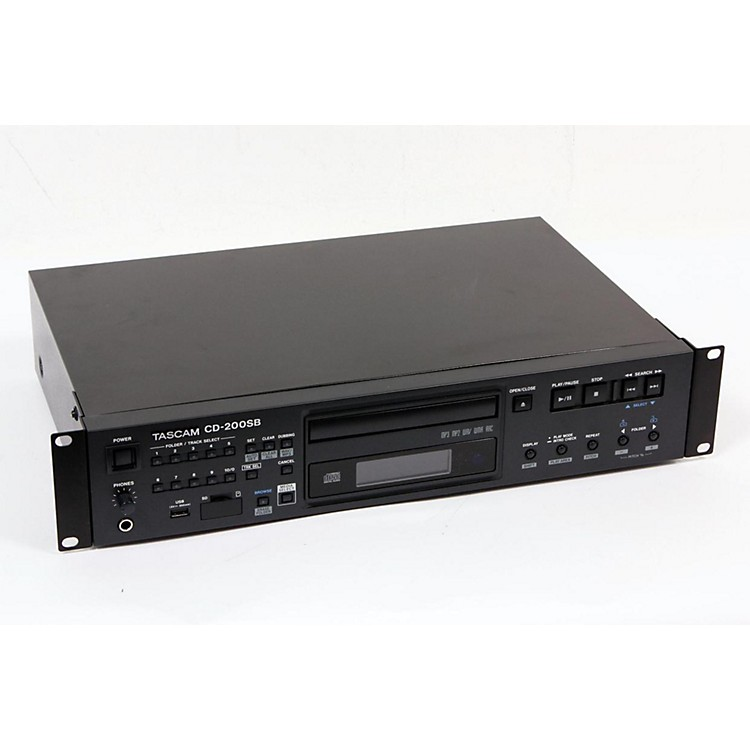 TASCAM CD-200SB Professional CD, SD, & USB Rackmount Player Regular 888365059143