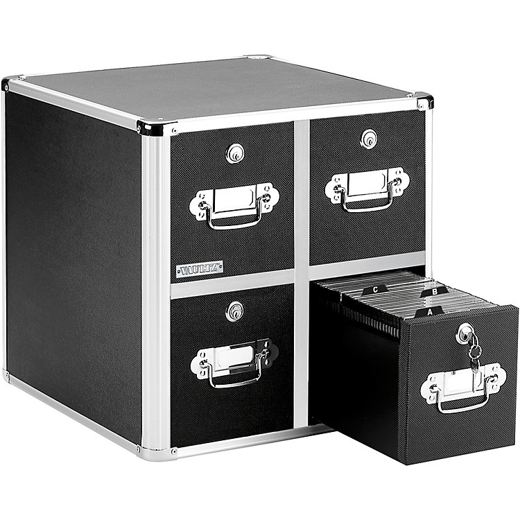 Vaultz CD Cabinet - 4 Drawer Black